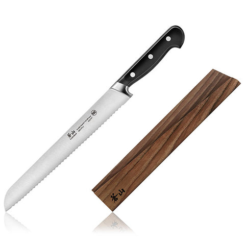 Cangshan TV2 Series Swedish Sandvik 14C28N Steel Forged 26 cm Bread Knife And Wood Sheath Set - Cangshan Cutlery Australia