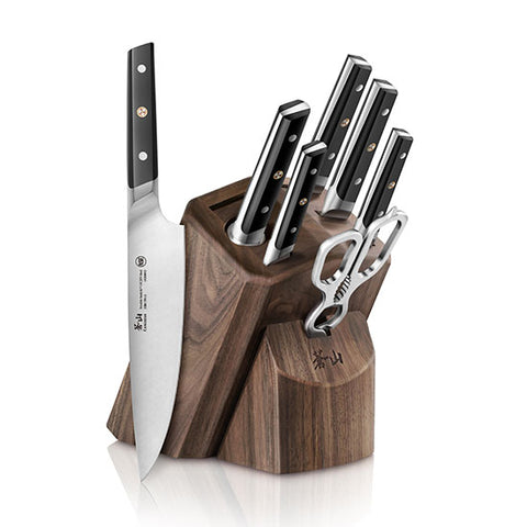 Cangshan TC Series 1021219 Swedish Sandvik 14C28N Steel Forged 8-Piece Knife Block Set, Walnut - Cangshan Cutlery