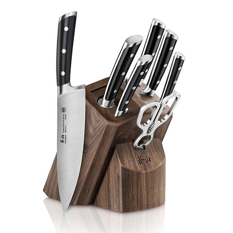 Cangshan TS Series 1020878 Swedish Sandvik 14C28N Steel Forged 8-Piece Knife Block Set, Walnut - Cangshan Cutlery Australia
