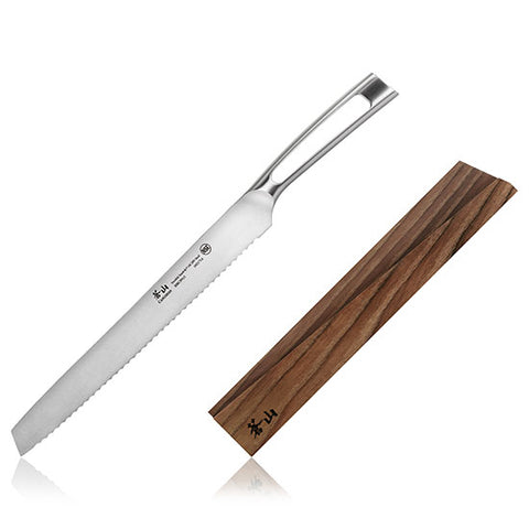 Cangshan TN1 Series Swedish Sandvik 14C28N Steel Forged 26 cm Bread Knife And Wood Sheath Set - Cangshan Cutlery