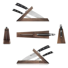 Cangshan TS Series 1021417 Swedish Sandvik 14C28N Steel Forged 3-Piece TAI Knife Block Set, Walnut - Cangshan Cutlery Australia