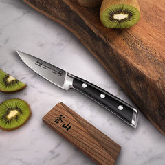 Cangshan TS Series 1020601 Swedish Sandvik 14C28N Steel Forged 9 cm Paring Knife And Wood Sheath Set - Cangshan Cutlery Australia