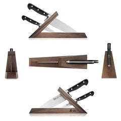 Cangshan TV2 Series 1021585 Swedish Sandvik 14C28N Steel Forged 3-Piece TAI Knife Block Set, Walnut - Cangshan Cutlery Australia
