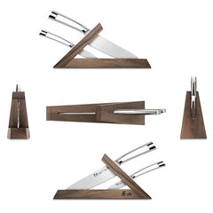 Cangshan TN1 Series 1021264 Swedish Sandvik 14C28N Steel Forged 3-Piece TAI Knife Block Set, Walnut - Cangshan Cutlery Australia