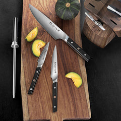 Cangshan TC Series 1021219 Swedish Sandvik 14C28N Steel Forged 8-Piece Knife Block Set, Walnut - Cangshan Cutlery Australia