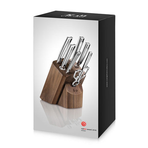 Cangshan TN1 Series 1021950 Swedish Sandvik 14C28N Steel Forged 8-Piece Knife Block Set, Walnut - Cangshan Cutlery
