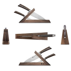Cangshan TA Series 1021356 Swedish Sandvik 14C28N Steel Forged 3-Piece TAI Knife Block Set, Walnut - Cangshan Cutlery Australia
