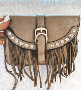 TAUPE RODEO CROSSBODY