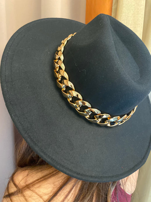 RIDER GIRL GOLD TONE HAT