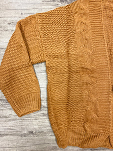 LOVE ME TAN CAMEL CARDIGAN