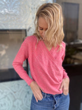 Load image into Gallery viewer, PINK V KNIT SWEATER