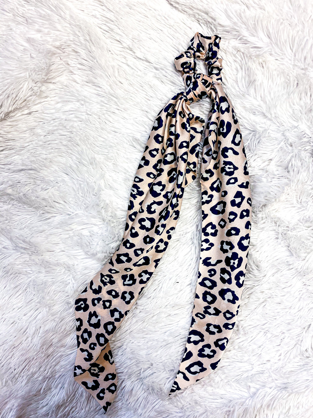 CHAMPAGNE / LEOPARD HAIR SCARF