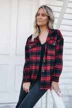 Load image into Gallery viewer, RED FLANNEL SHACKET (shirt-jacket)