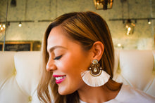 Load image into Gallery viewer, WHITE FRINGE EARRINGS