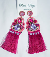 Load image into Gallery viewer, PRETTY IN PINK EARRINGS