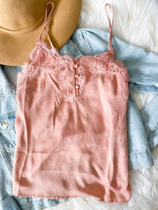 BLUSH AND LACE CAMISOLE