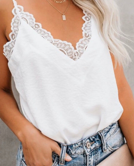WHITE AND LACE