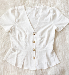 SHORT SLEEVE PEPLUM TOP
