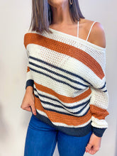 Load image into Gallery viewer, RETRO STRIPES SWEATER