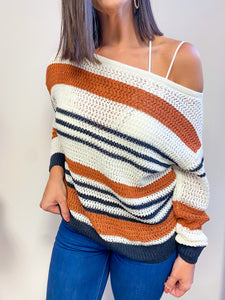RETRO STRIPES SWEATER