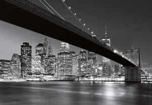 Wizard+Genius Brooklyn Bridge NY Fotobehang 366x254cm | Yourdecoration.nl