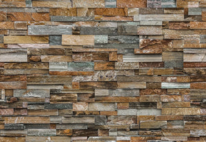Wizard+Genius Colorful Stone Wall Fotobehang 366x254cm | Yourdecoration.nl