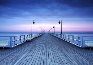 Wizard+Genius Pier at the Seaside Fotobehang 366x254cm | Yourdecoration.nl