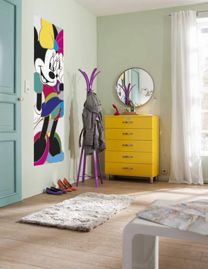 Komar Minnie Mouse Colorful Fotobehang 73x202cm | Yourdecoration.nl