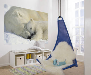 Komar Polar Bears Fotobehang 184x127cm | Yourdecoration.nl