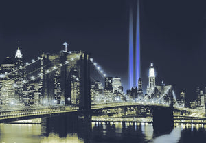 Papermoon New York by Night Vlies Fotobehang 350x260cm | Yourdecoration.nl