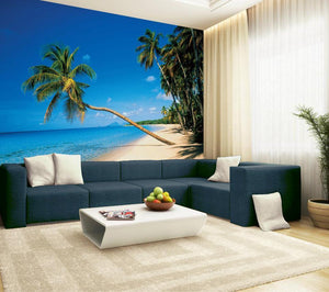 Papermoon Leaning Palm Vlies Fotobehang 350x260cm | Yourdecoration.nl