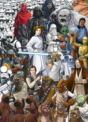 Komar Star Wars Classic Cartoon Collage Fotobehang 184x254cm 4-delig | Yourdecoration.nl