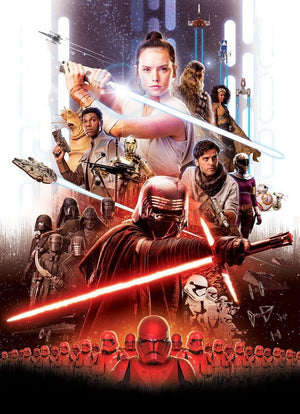 Komar Star Wars EP9 Movie Poster Rey Fotobehang 184x254cm 4-delig | Yourdecoration.nl