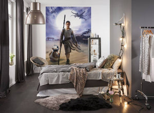 Komar Star Wars Rey Fotobehang 184x254cm | Yourdecoration.nl