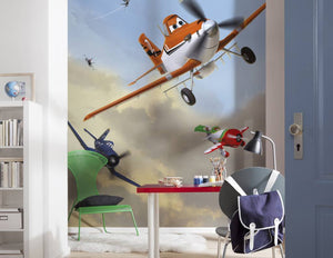 Komar Planes Dusty and Friends Fotobehang 184x254cm | Yourdecoration.nl