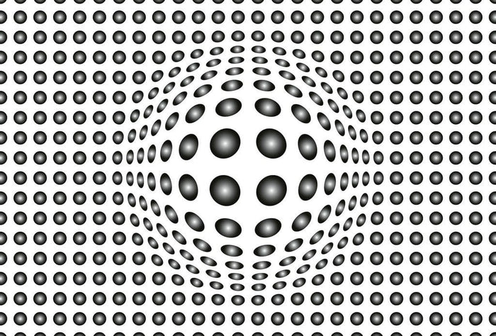 Wizard+Genius Dots Black and White Vlies Fotobehang 384x260cm 8-banen