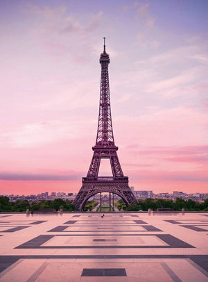 Wizard+Genius Eiffel Tower At Sunset Vlies Fotobehang 192x260cm 4-banen | Yourdecoration.nl