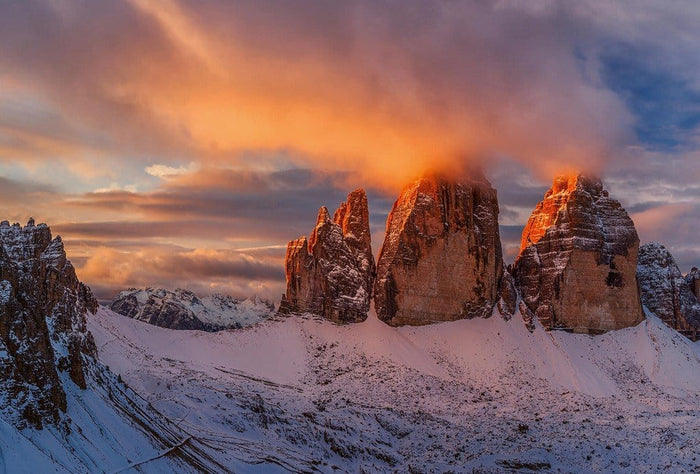 Wizard+Genius Mountain Peaks in Italy Vlies Fotobehang 384x260cm 8-banen