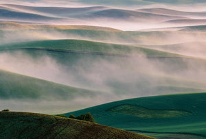 Wizard+Genius Foggy Hills I Vlies Fotobehang 384x260cm 8-banen | Yourdecoration.nl