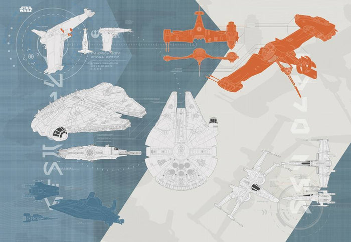 Komar Star Wars Technical Plan Fotobehang 368x254cm