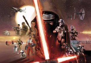 Komar Star Wars EP7 Collage Fotobehang 368x254cm | Yourdecoration.nl