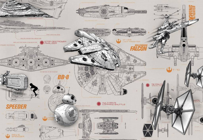 Komar Star Wars Blueprints Fotobehang 368x254cm