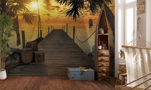 Komar Treasure Island Fotobehang 368x254cm | Yourdecoration.nl