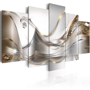 Artgeist Golden Flight Canvas Schilderij 5-luik | Yourdecoration.nl