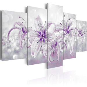 Artgeist Purple Graces Canvas Schilderij 5-luik | Yourdecoration.nl