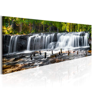 Artgeist Fairytale Waterfall Canvas Schilderij  | Yourdecoration.nl