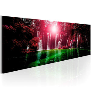 Artgeist Ruby Waterfalls Canvas Schilderij  | Yourdecoration.nl