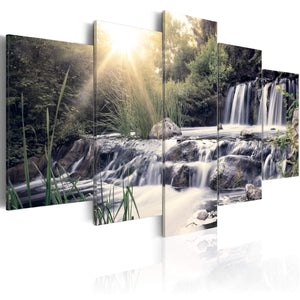 Artgeist Waterfall of Dreams Canvas Schilderij 5-luik | Yourdecoration.nl