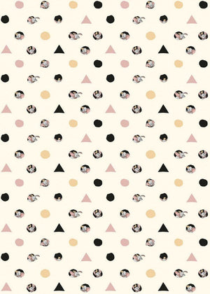 Komar Dumbo Angles Dots Vlies Fotobehang 200x280cm 4-banen | Yourdecoration.nl