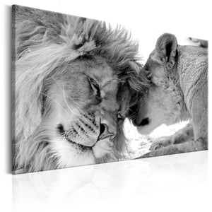 Artgeist Lions Love Canvas Schilderij  | Yourdecoration.nl